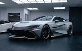 Naran Automotive hypercar official reveal - in garage with Lamborghini