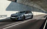 Peugeot 508 PSE estate official images - on road