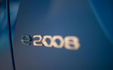 Peugeot e-2008 reveal studio - rear badge
