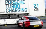91 Porsche Autocar EV record breakers 2021 charging