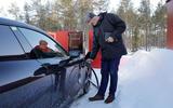 Porsche Taycan prototype ride 2019 - Andrew Frankel charging