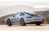 Porsche 911 R rear profile