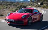 Porsche 911 Carrera 4S 2019 review - hero front