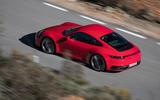 Porsche 911 Carrera 4S 2019 review - aerial rear