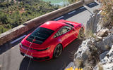 Porsche 911 Carrera 4S 2019 review - arial rear right