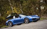 Porsche 911 Targa 4S roof opening