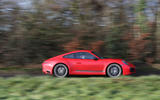 Porsche 911 Carrera T on the road