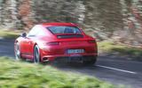 Porsche 911 Carrera T rear cornering