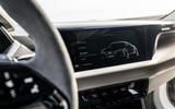 Audi E-tron GT concept 2020 prototype first drive review - infotainment