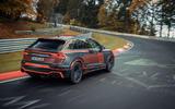 Audi RS Q8 2020 camo ride - track rear