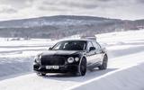 Bentley Flying Spur 2020 development ride - snow