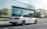 BMW 540i 2020 facelift official images - tracking rear