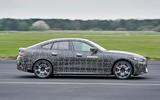 92 BMW i4 2021 prototype drive track side