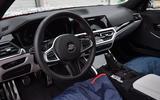 2020 BMW M3 prototype first drive - camo steering wheel