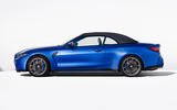 92 BMW M4 Convertible 2021 official reveal side roof up