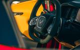 Corvette C8 vs Porsche 911 UK - Corvette steering wheel