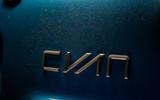 Cyan Volvo P1800 drive - rear badge