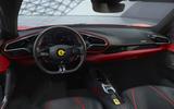 92 Ferrari 296 GTB 2021 official reveal dashboard