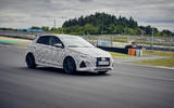 2021 Hyundai i20 N prototype drive - on track side