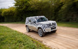 2020 Land Rover Defender prototype ride - on the road front