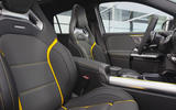 Mercedes-AMG GLA 45 S 2020 official press images - front seats