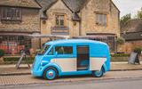 Morris JE electric van official images - side door