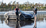 Porsche Taycan breaks electric drift record - official images - static