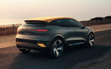 Renault Megane eVision concept official images - tracking rear