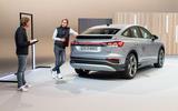 93 Audi Q4 etron 2021 official reveal studio rear
