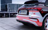 93 Audi Q4 Etron 2021 prototype drive rear end
