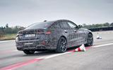 93 BMW i4 2021 prototype drive track rear