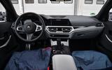 2020 BMW M3 prototype first drive - camo dashboard