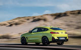 93 BMW X4 M 2021 LCI official images tracking rear