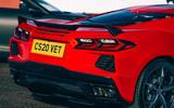 Corvette C8 vs Porsche 911 UK - Corvette rear end