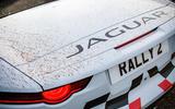Jaguar F-Type rally car 2019 driven rear end