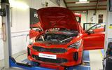 99 Kia Stinger GT420 racer - workshop front