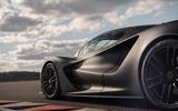 93 Lotus Evija 2021 track drive side aero