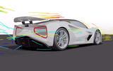 Lotus Evija aero blog - aero render rear
