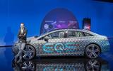 93 Mercedes Benz EQS interior official posing