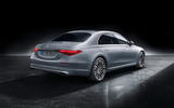 2021 Mercedes-Benz S-Class official reveal images - studio rear