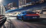 93 Porsche 911 GT3 2021 official images night rear