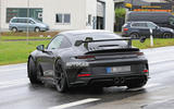 Porsche 911 GT3 prototype at Nurburgring - road side rear