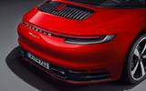 Porsche 911 Targa 992 official images - rear end