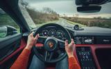 93 Porsche Taycan Cross Turismo prototype drive steering wheel