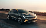 Renault Megane eVision concept official images - tracking front