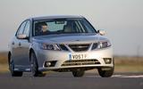 Saab 9-3 cornering