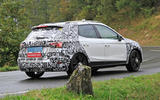 2022 Seat Arona spy images - on the road side rear