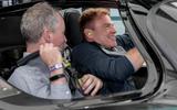 94 Aston Martin Valkyrie Goodwood passenger ride earplugs