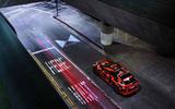 Audi E-tron Sportback prototype matrix headlights - static aerial