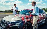 94 Audi RS3 2021 prototype ride close up